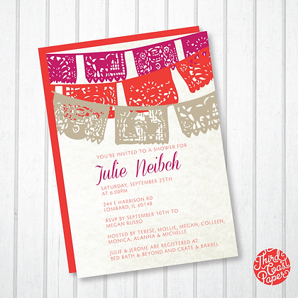 Papel Picado Invitation