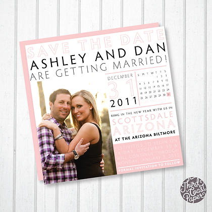 Square Infographic Wedding Save the Date