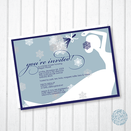Snow Shower Invitation