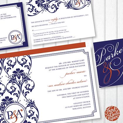 Elegant Vine Wedding Invitation