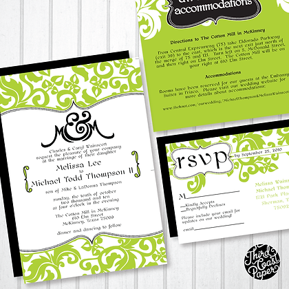 Ampersand Wedding Invitation