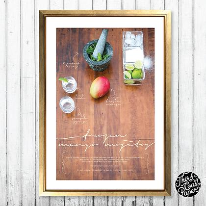 Frozen Mango Mojito Recipe Art Print
