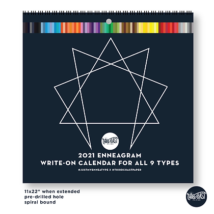2021 Enneagram Write-On Calendar