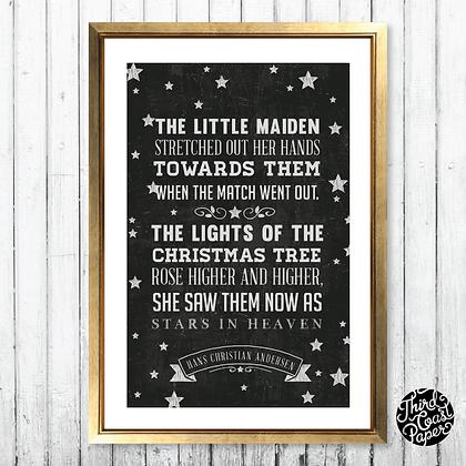 "Hans Christian Andersen ""Stars in Heaven"" Print"