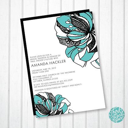 Graphic Floral Invitation