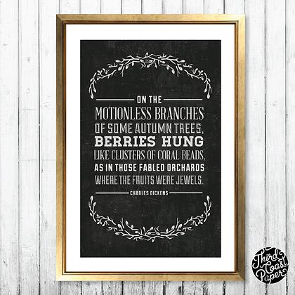 """Charles Dickens """"Jewels"""" Chalkboard Print"""