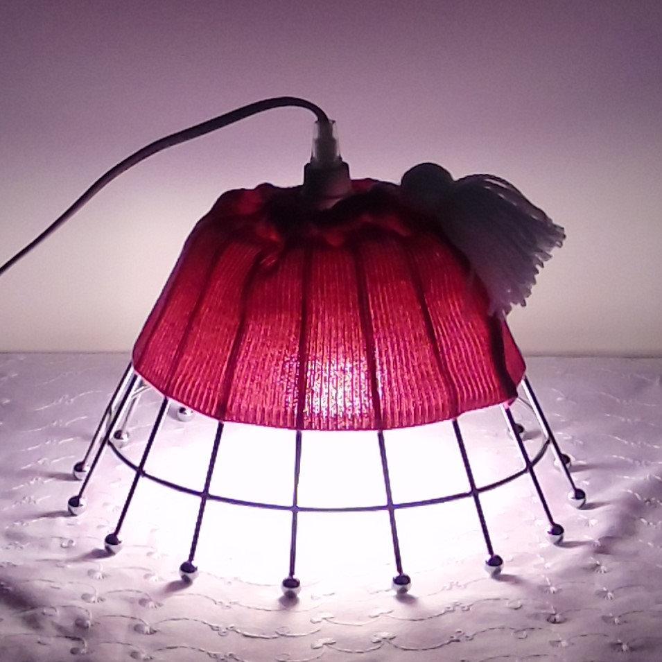 Création Chambre Artisanale Bureau Détourné En Lampe Rose Objet JFT1lKc