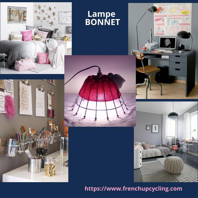 Détourné En Objet Rose Création Bureau Chambre Lampe Artisanale POZkTiuX