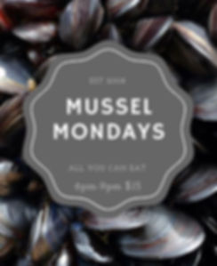 Mussel Mondays Happy Hour