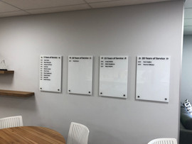 Glass Boards with Reversed Applied Vinly Backing