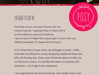 Posy's Christmas News...