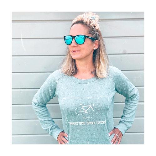Sweater Woman Cycling