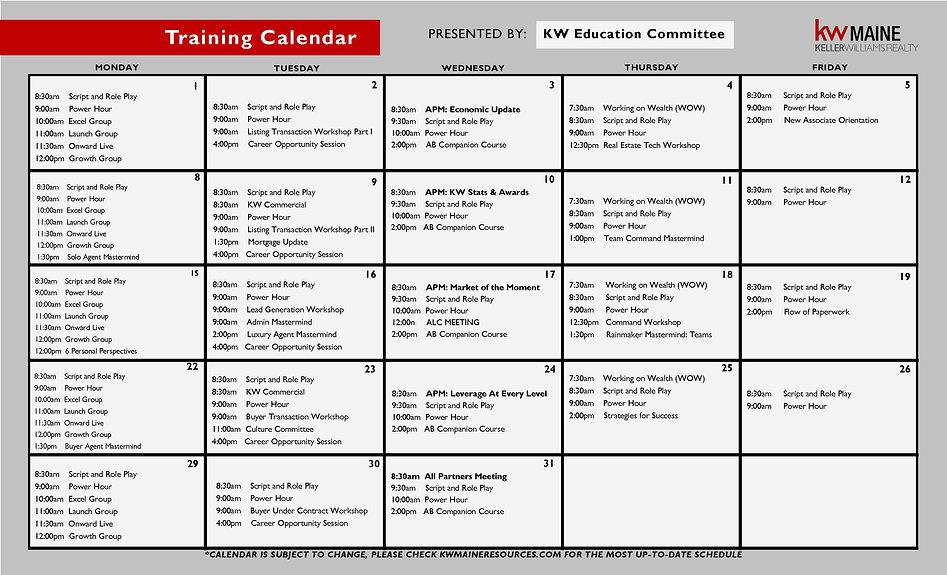 KWMaine Sample Education Calendar 2021 F