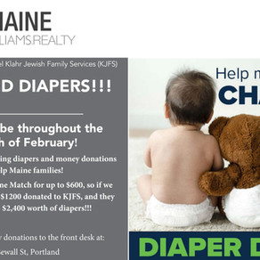 February Diaper Drive for Jewish Community Alliance of Southern Maine