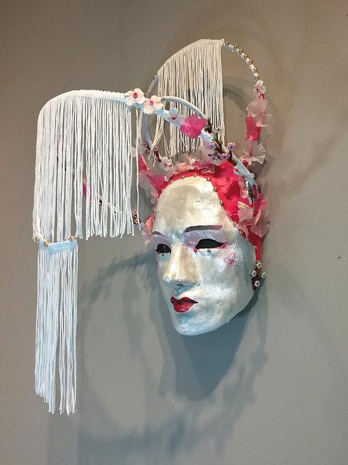 Cherry Blossom Geisha Mask