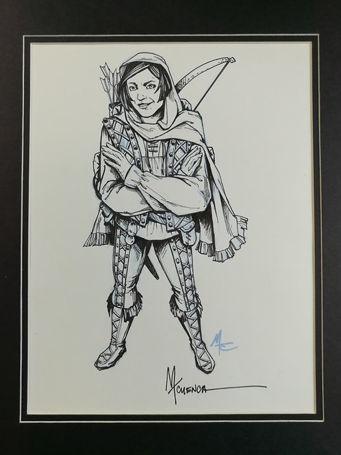 "Matted Original Inked RPG Illustration: ""Scout"""