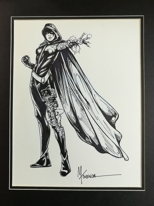 Matted Original Inked RPG Illustration