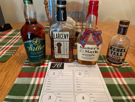 Wheated Bourbons Blind Tasting