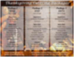 Catering Menu thanksgiving 2019 PACKAGES