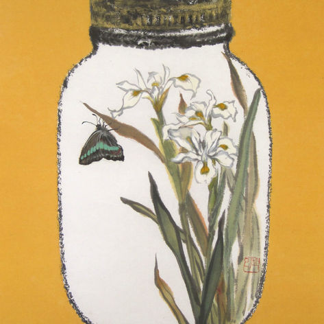 Jars & Memories WHITE IRIS