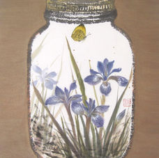 Jars & Memories BLUE IRIS