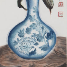 Blue an White Lily