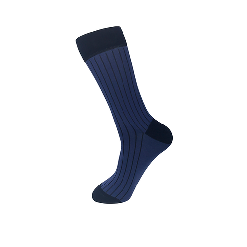 50 pairs of Men Rib Socks-Mightly Blue