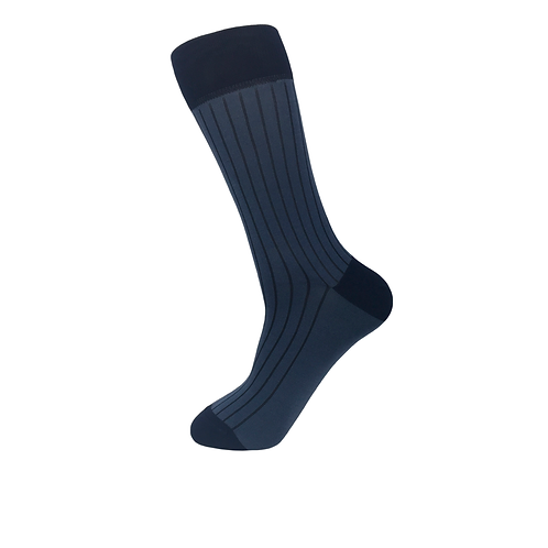 50 pairs of Men Rib Socks-Navy