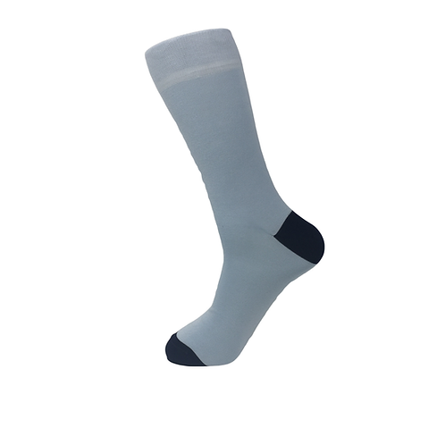 50 pairs of Two Tone Men Socks-Light Blue with Navy