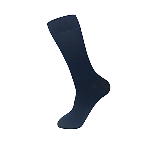 50 pairs of Two Tone Men Socks-Navy with Charcoal