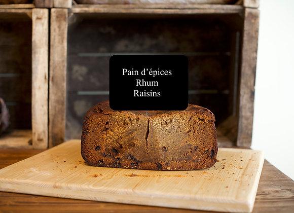 Pain d'épices Rhum-Raisins