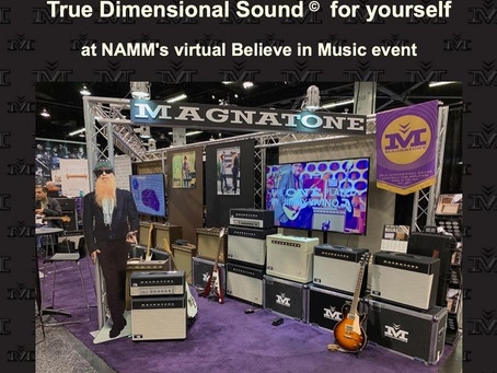 Magnatone at NAMM's virtual Believe in Music event!