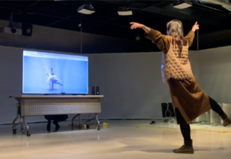 TransMotion | ML-based Interactive System for Aesthetic Experience of Body Movements | 2018