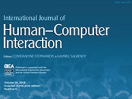 A Paper on Interactive Photograph accepted to International Journal of Human Computer Interaction