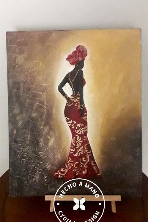 Cuadro mujer vestida de gala