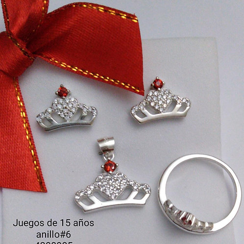 Set anillo y aretes