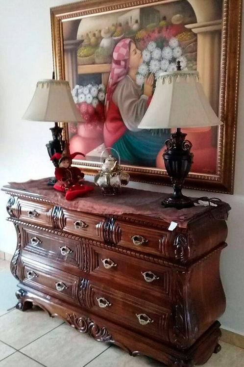 Mueble decorativo para sala estilo bombey