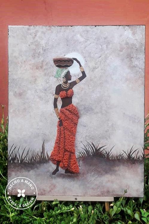 Africana Vestida Naranja