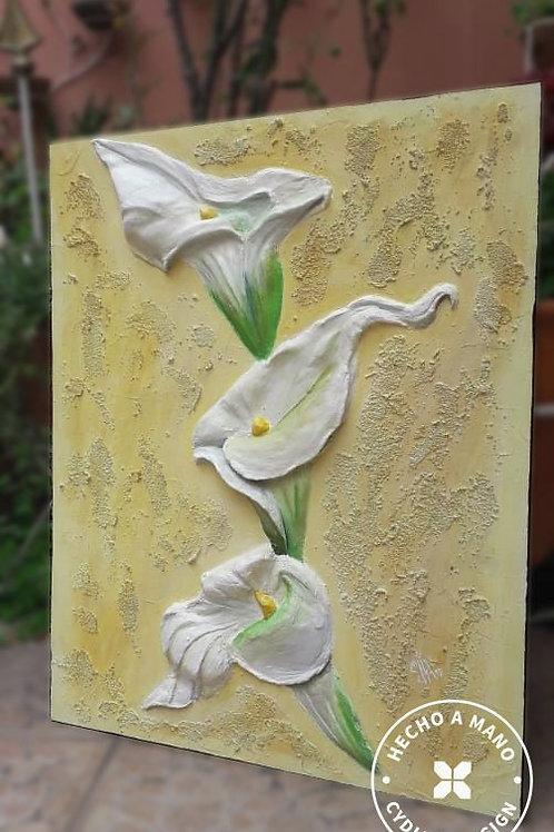 Tres flores de cartuchos