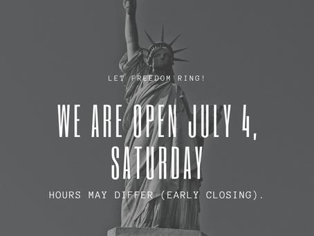 July 4 open