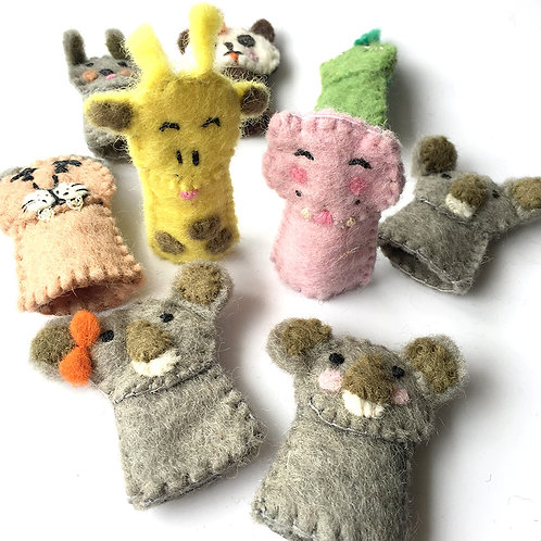 Set of 9 Fair Trade Finger Puppets