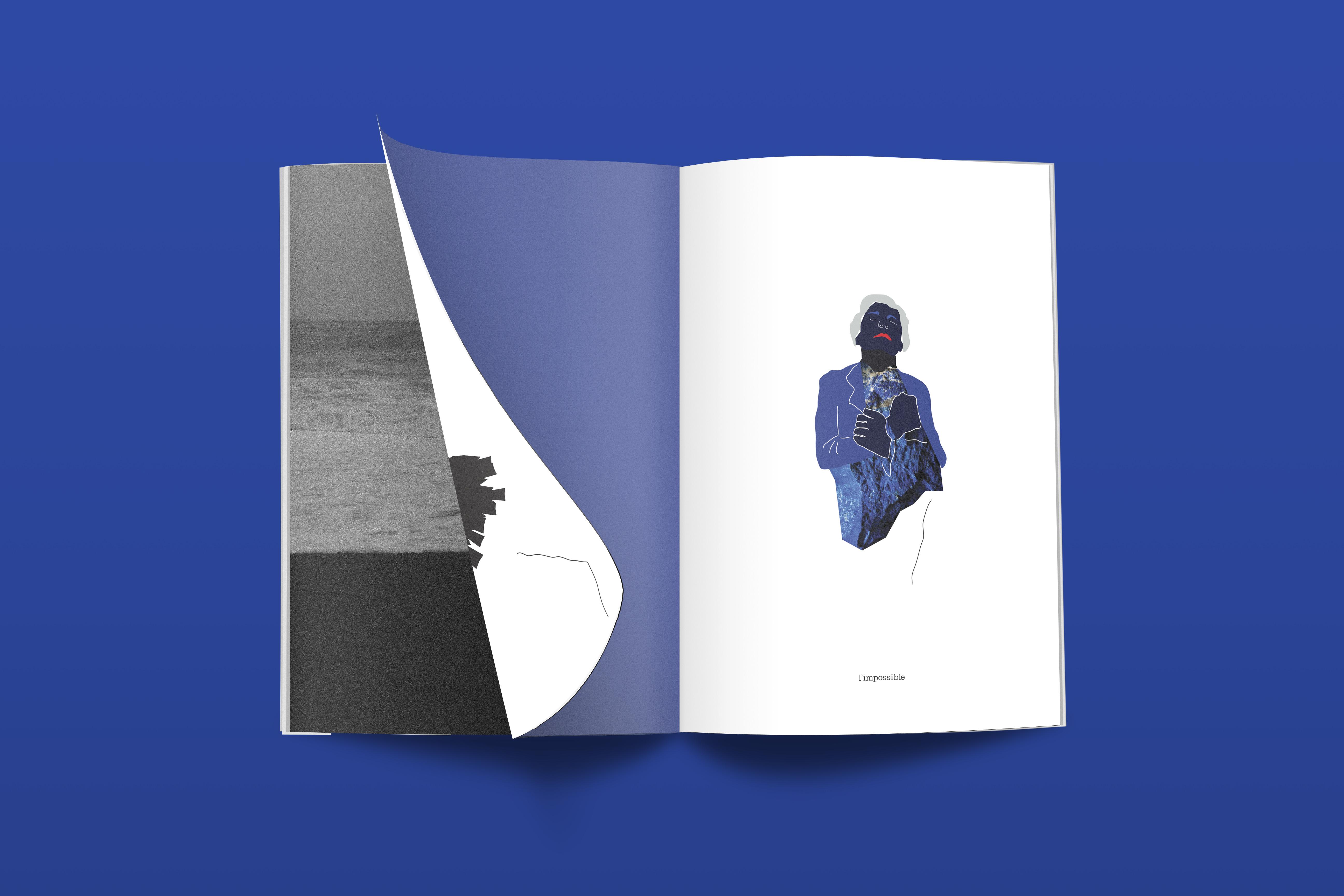 magazine mockup blue