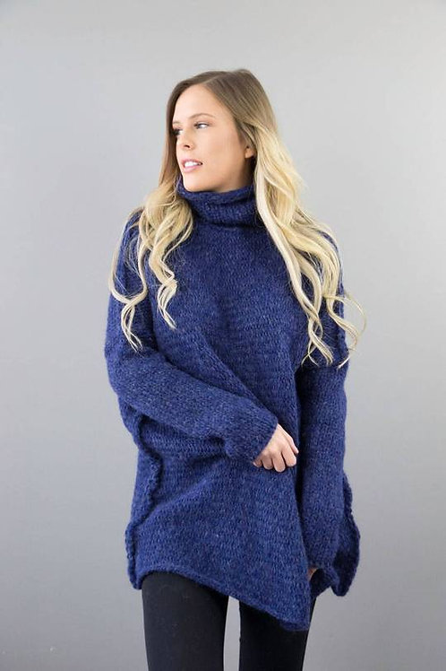 Blue Alpaca /Merino Wool Sweater