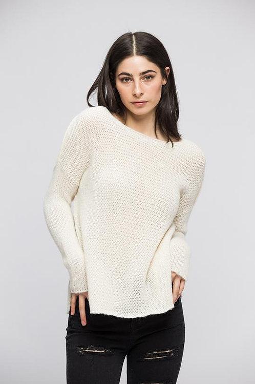 Cream Alpaca Sweater