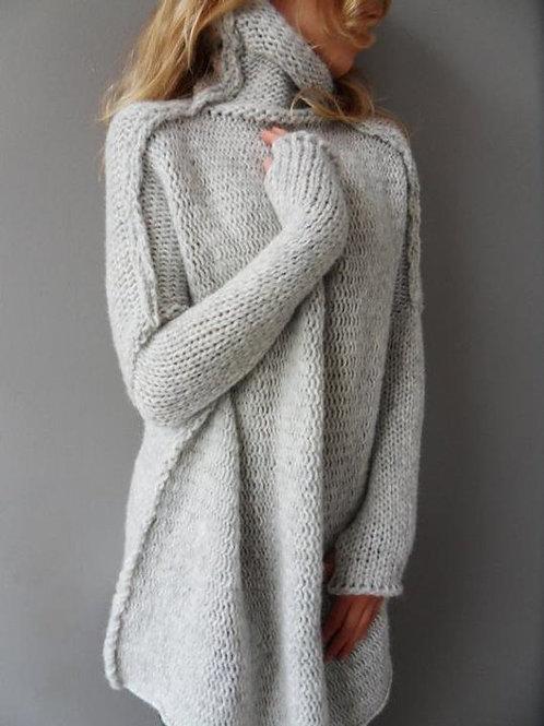 Oversized Handmade Knit Alpaca Sweater