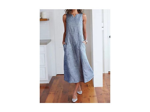 Organic Linen Midi Dress