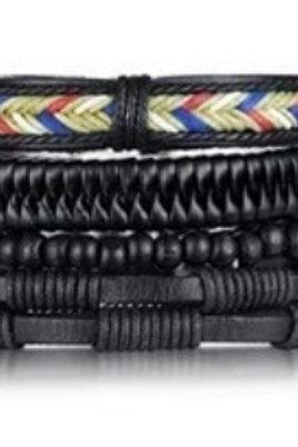 Braided Wrist Band Set