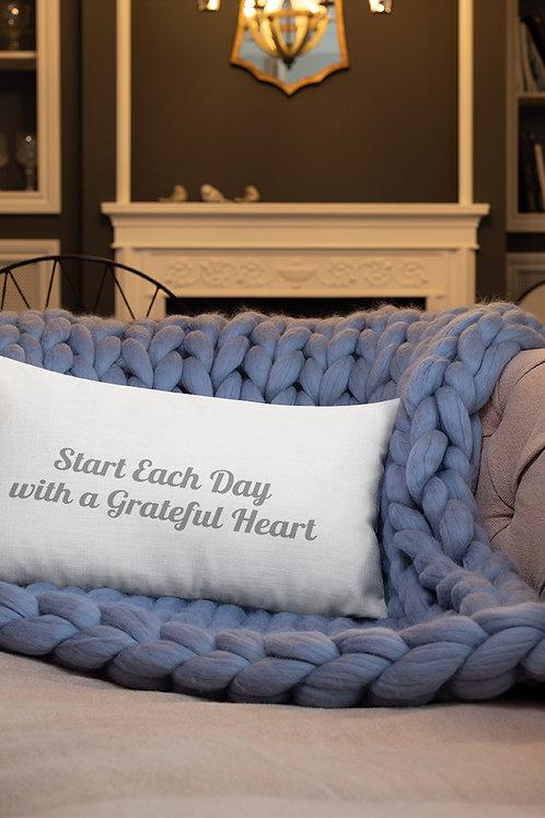 Start Each Day with Gratitude Pillow