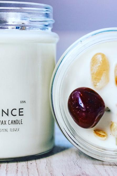 Abundance Crystal Charge Candle