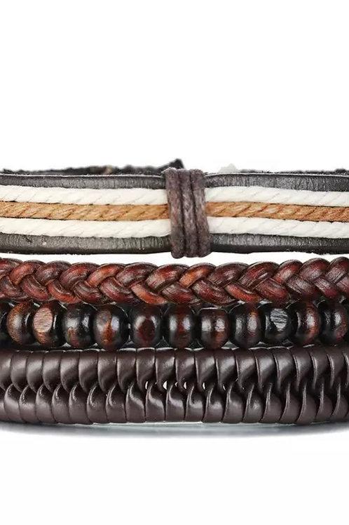 Brown Wrist Band Set